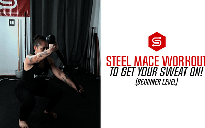 Steel Mace Workout to GET YOUR SWEAT ON! (Beginner Level)